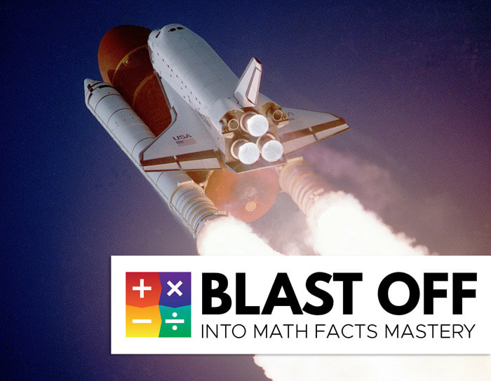 blast off into math facts fluency