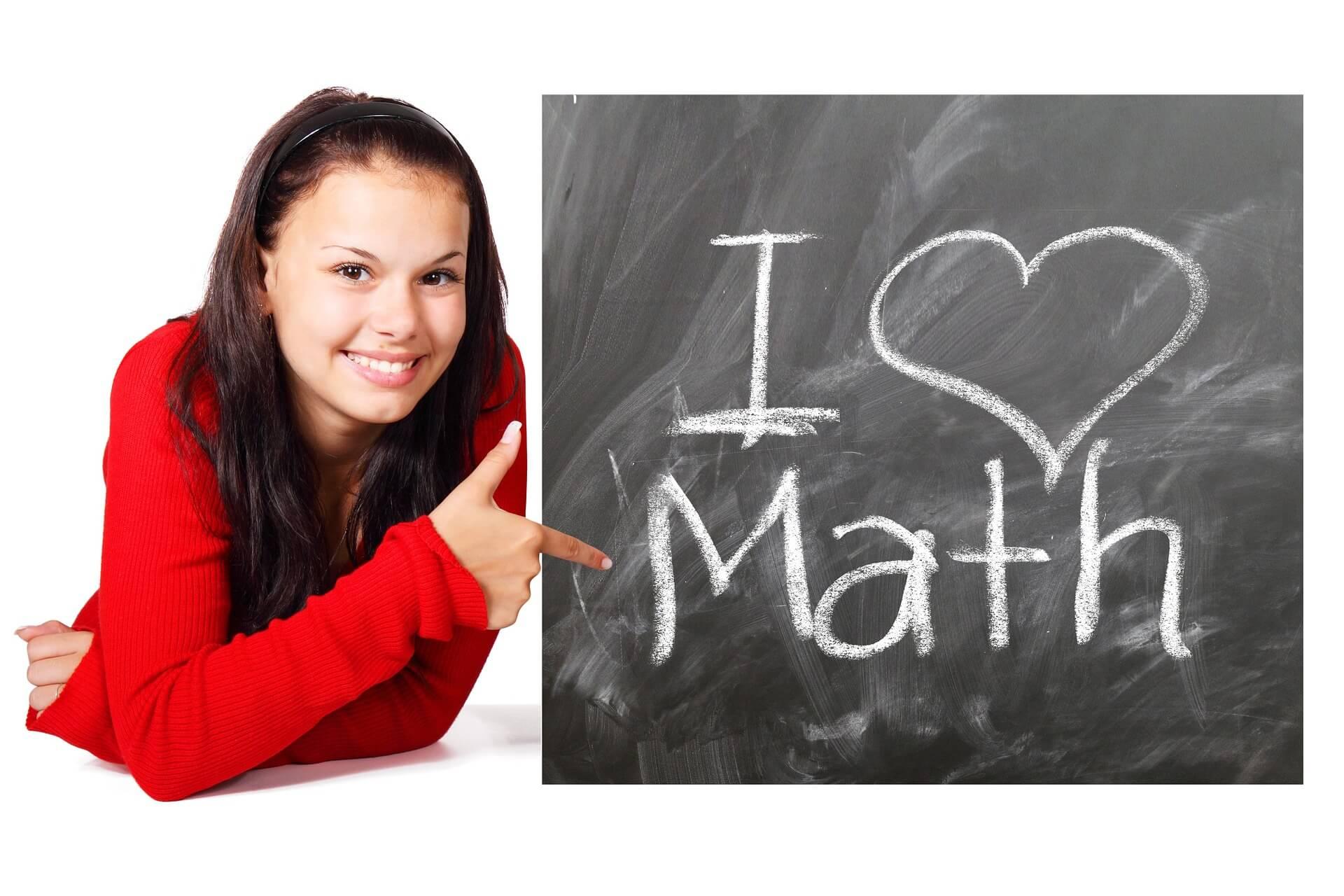 girl loves math