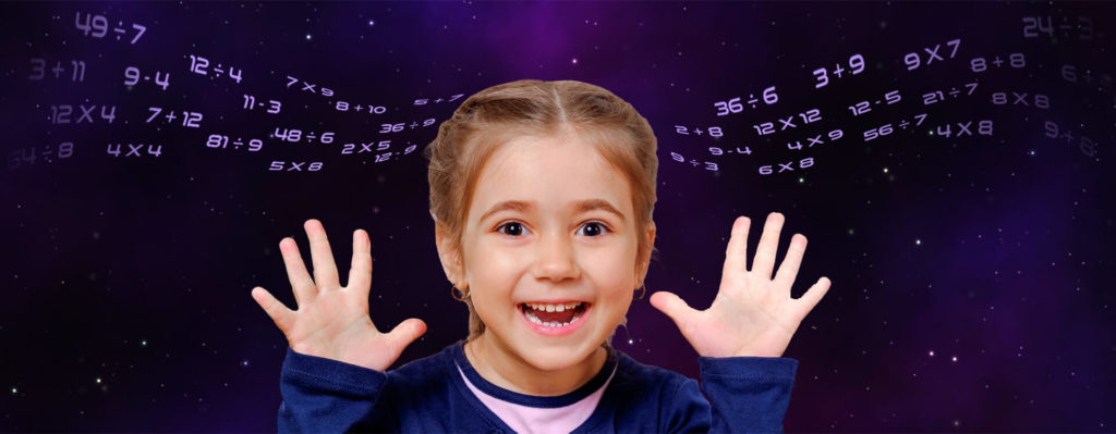 math facts girl space