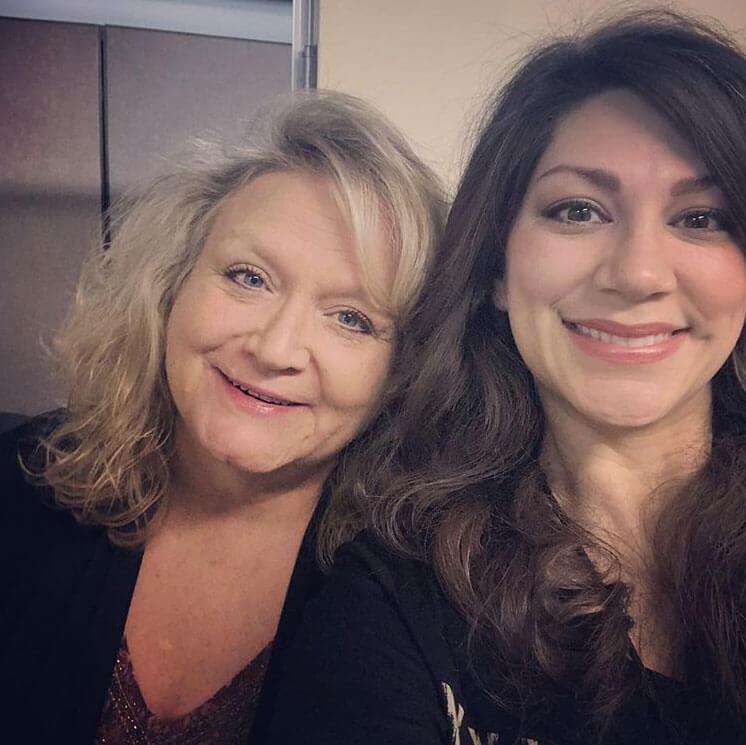 Kathy Robinson with Samantha Dimas