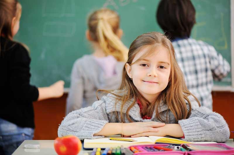 girl in class