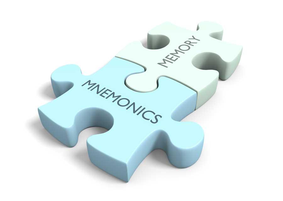 mnemonics and memory puzzle pieces