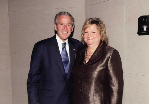 President Bush and Kathy Robinson